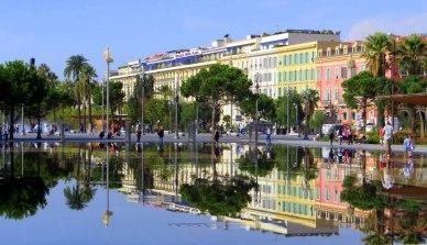 Nice France Mirror pools